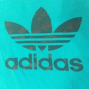 🔥3/$20 XL Adidas Trefoil Logo Tee Teal